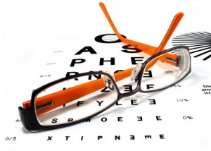 glasses and eye exam