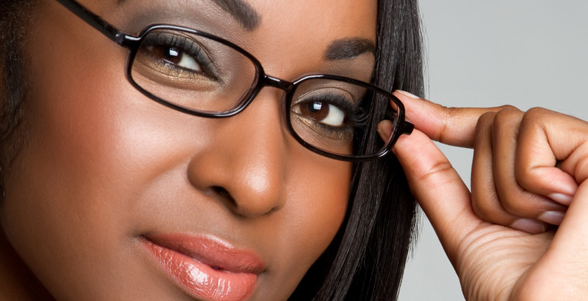 African American Women with glasses